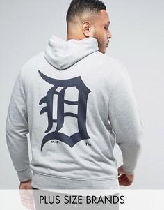 Худи с принтом на спине Majestic PLUS Detroit Tigers - Серый