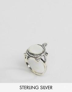 Серебряное кольцо с черепахой и перламутровым камнем Regal Rose - Серебряный
