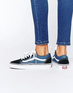 Синие кроссовки Vans Classic Old Skool - Синий