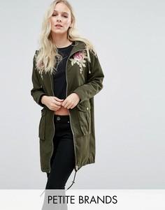 Куртка с вышивкой New Look Petite - Зеленый