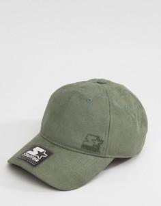 Замшевая бейсболка с черным логотипом Starter - Зеленый