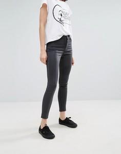Вощеные джинсы скинни с завышенной талией Cheap Monday - Серый