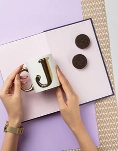 Кружка с буквой J Sass & Belle - Мульти