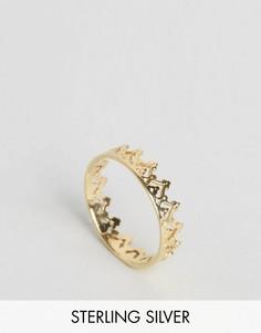 Кольцо в виде короны из позолоченного серебра ASOS - Золотой