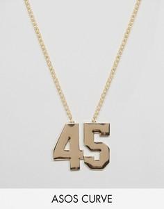 Ожерелье 45 ASOS CURVE - Золотой