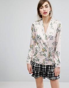 Рубашка в пижамном стиле с цветочным принтом E.F.L.A - Мульти
