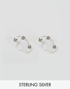 Серебряные серьги-кольца Reclaimed Vintage Inspired - Серебряный
