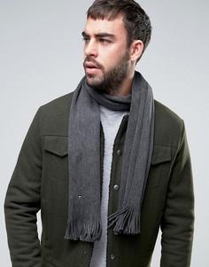 Шерстяной шарф с флажком Tommy Hilfiger - Серый