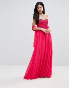 Платье макси с вырезом сердечком Forever Unique - Розовый