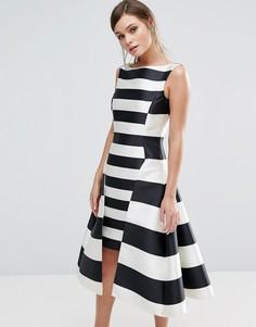 Платье в полоску Coast Kady Dramatic - Мульти