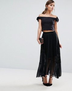 Кружевная юбка плиссе Coast Amira - Мульти