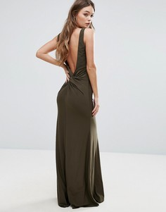 Платье макси с открытой спиной TFNC - Зеленый