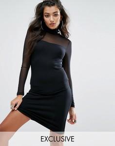 Облегающее сетчатое платье Puma эксклюзивно для ASOS - Черный
