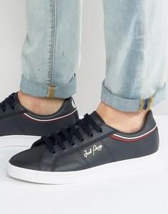 Кожаные кроссовки Fred Perry Sidespin - Темно-синий