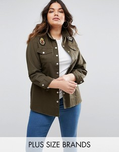 Куртка в стиле милитари Boohoo Plus - Зеленый