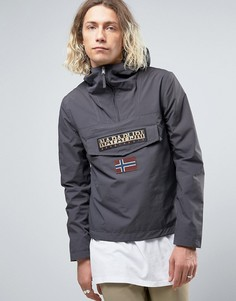 Темно-серая нейлоновая куртка через голову с капюшоном Napapijri Rainforest - Серый
