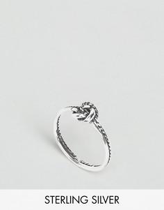 Серебряное кольцо в виде цепочки с узлом ASOS - Серебряный