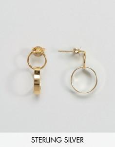 Серьги-кольца 12 мм из позолоченного серебра ASOS - Золотой