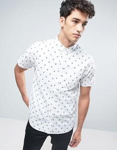 Рубашка с короткими рукавами и пауками Brave Soul - Белый