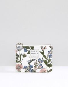 Белый кошелек для монет на молнии с цветочным принтом Jack Wills - Мульти