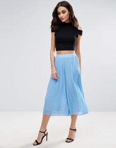 Плиссированная юбка-брюки Jovonna Quiet Moment - Синий
