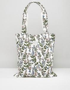 Белая сумка с цветочным принтом Jack Wills - Мульти