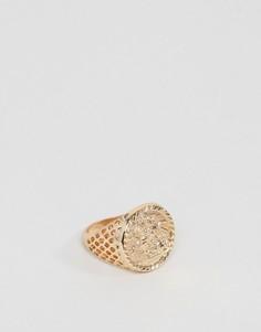 Золотистое кольцо с совереном Chained & Able - Золотой
