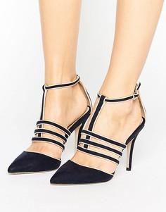 Темно-синие туфли с острым носком и Т-образным ремешком Paper Dolls - Темно-синий