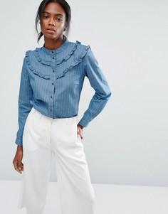 Рубашка в тонкую полоску из шамбре Getsuz Braxton - Синий Gestuz