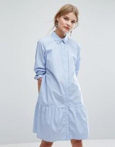 Цельнокройное платье с оборкой на подоле Gestuz Inesa - Синий