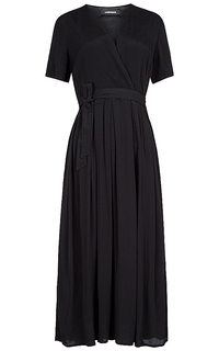 черное платье с запахом La Reine Blanche