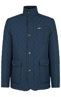 Куртка на синтепоне с отделкой экокожей Al Franco