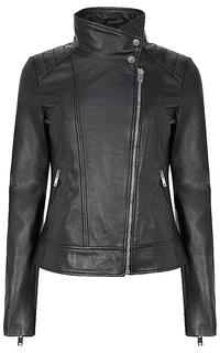 Кожаная куртка с воротником-стойкой La Reine Blanche
