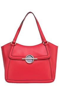 Красная кожаная сумка La Reine Blanche