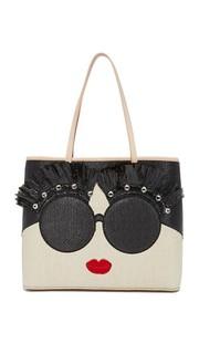 Объемная сумка Stace Face с короткими ручками и декоративной отделкой Alice + Olivia