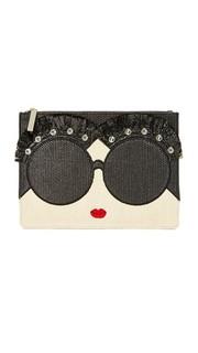 Большая сумочка на молнии Stace Face с декоративной отделкой Alice + Olivia