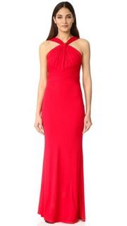 Вечернее платье с высокой горловиной Badgley Mischka Collection