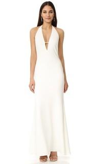 Платье с глубоким V-образным вырезом Badgley Mischka Collection