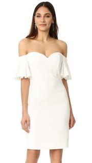 Платье с открытыми плечами и расклешенными рукавами Badgley Mischka Collection