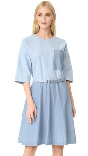 Платье свободного кроя Jade из ткани шамбре Maison Kitsune