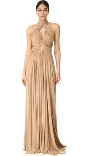 Макси-платье Moss с американской проймой Maria Lucia Hohan