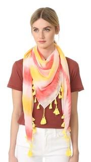 Квадратный шарф с рисунком в технике узелкового батика Rebecca Minkoff