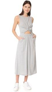 Платье без рукавов с перекрученной отделкой спереди T by Alexander Wang