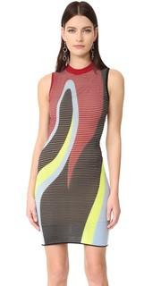 Трикотажное платье с подкладкой Versace
