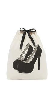 Очаровательная дорожная сумка с изображением туфель на платформе Bag All