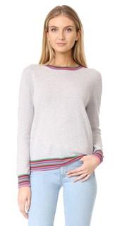Кашемировый свитер с полосатыми манжетами Chinti and Parker