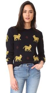 Кашемировый свитер с изображениями леопардов по всей поверхности Chinti and Parker