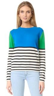 Кашемировый свитер в полоску с цветными блоками Chinti and Parker