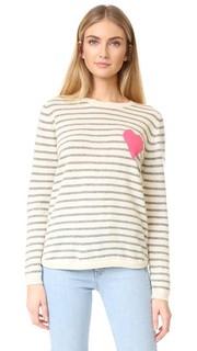 Кашемировый свитер Breton с сердечком Chinti and Parker