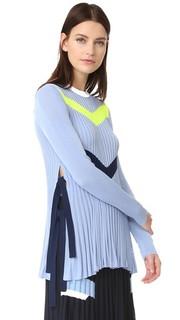 Вязаный свитер с шевронами Versace